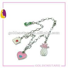Classic mini fruits charm bracelet diy charm bracelet cusomized