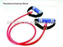 gym fitness equipments latex stretch tubing