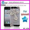 religious mobile phone case for iphone 5,rhinestone cell phone cover,handmade mobile phone case