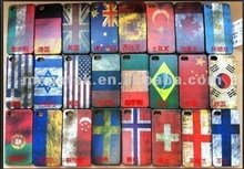 Phone case Old memory contry flag crystal hard case for iphone 5 5s, for iphone case flag ,for iphone 5 case hard