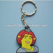 2012 hot sale Environmental protection beautiful girl cartoon keychain