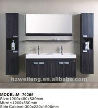 european market hot sell double melamine bathroom furniture
