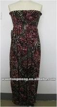 2012OEM fashion clothing women, lady smocked maxi dress