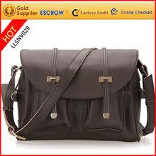 Cross body girls leather messenger bags laptop bag