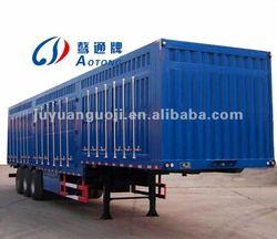 best selling cargo semi trailer house,3 axles semi trailer,5 pairs of semi trailer door