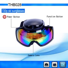Newest HD 720P Glasses Camera Skiing Goggles Waterproof Hidden glasses Camera THB028