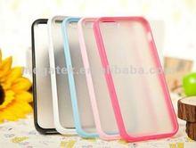 phone case matte TPU PC bumper case for iphone 5 5S , for iphone 5s case bumper ,for iphone case pc 5s 4s 6