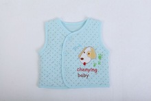 2014 spring new Happy dog embossed comfortable cotton design baby vest