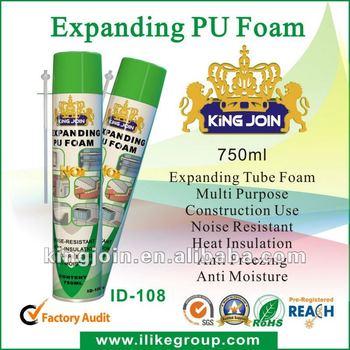 Gap-filling Large Expansion Heat-resistant Pu Foam Sealant manufacturer/factory 750ml/500ml