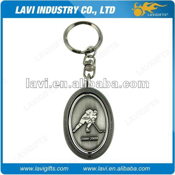hockey keychain metal