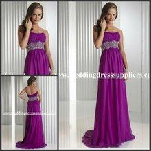 PR170 Wonderful Strapless Empire Crystal Long Formal Evening Dress Fashion 2012