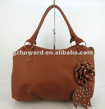New arrival office lady bag with beautiful flower 2012