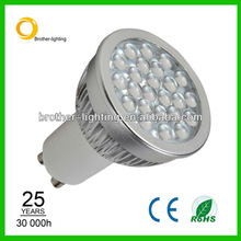 New 500Lm equivalent to 50w Halogen lamp 6w led gu10 philips