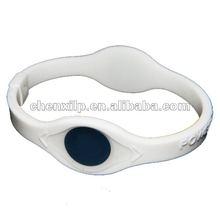 black hologram energy bracelet with pure silicone