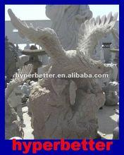 Granite large eagle statues