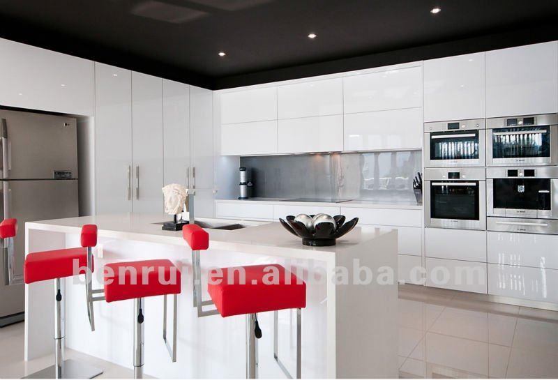 2 pac cuisson peinture blanc laque finition brillante for Modele cuisine blanc laque