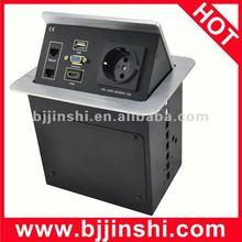 JS-5 special designed hdmi and usb desktop outlet