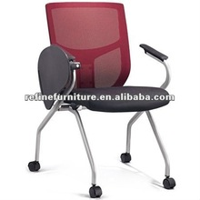 foldable and movable conference writing chair with casters RF-T002C