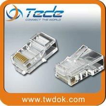 hot sales rj45 cat 5 6 lan ethernet splitter connector adapt