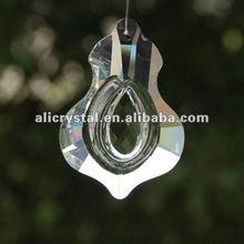 Crystal glass leaf