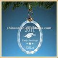 oval de vidro lembrança graduação ornamento para estudantes de presente