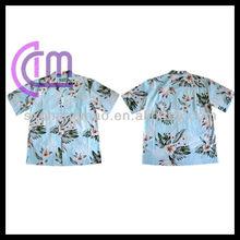 Men's cotton short sleeve Hawaiian shirts
