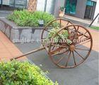 outdoor beauty cart wooden vase