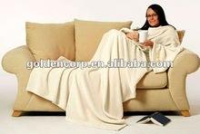 Fleece Blanket with Sleeves
