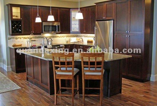Ciliegio americano di legno da cucina armadio, armadio da cucina con ...
