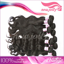 Full cuticle 100% human hair weaving,newjolly virgin Malaysian hair wholesale