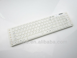 white bluetooth wireless keyboard and mouse combo