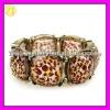 Stylish Leopard Resin Elastic Wrist Band Bracelet SZ-633