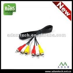 Manufacture ! 3 RCA To 3 RCA male AV cable for TV