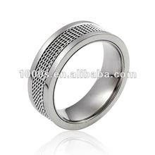 White Gold Plated Net Steel Wedding Ring Band On Ebay