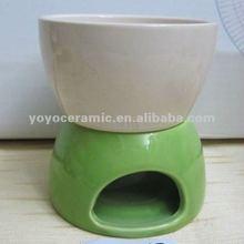 stocked green and white big bowl ceramic oil burner