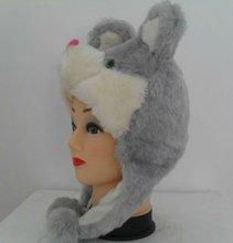 Faux fur animal hat