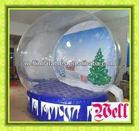 2013 glass christmas snow globe/ christmas snowman snow globe