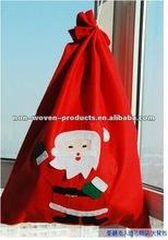2012 New Arrival Velvet Christmas Drawstring Gift Bag