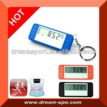 3D g sensor pocket digital single function keychain pedometer DP787