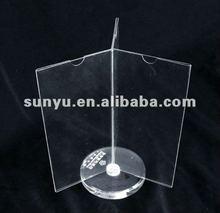 acrylic revolving menu holder