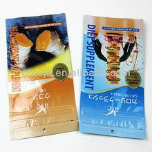 FDA grade zipper lock high quality snack bar packaging