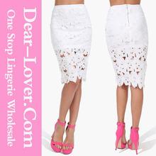 India boutique de ropa de la flor de ganchillo lápiz de la falda apretada atractiva de la falda imagen