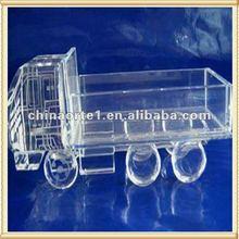 Transparent Antique Crystal Truck Models For Office Decoration