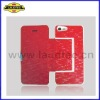 2012 new arrival light up leather flip case pouch for iPhone 5 5'' 5 wholesale top quality