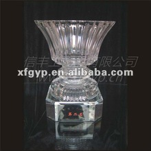 large clear crystal vase souvenir trophy cup