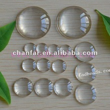 Flat round picture glass clear cabochons