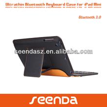 For iPad mini Ultra-thin PU Leather Case Built-in Keyboard