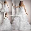 MG093 Fashion Design Sweetheart Beaded Embroidery Backless Custom Formal Wedding Dress Organza Ruffles Skirt