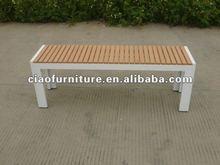 Teakwood backless outdoor bench