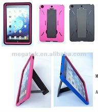 tablet case cover silicone pc kickstand case for ipad mini, for ipad case silicone pc , for ipad mini case hybrid